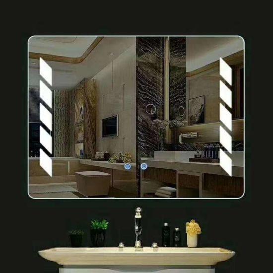 LED Anti-Fog espejo el cuarto de baño de cristal personalizado