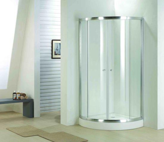 Bh749 El cuarto de baño de vidrio de 8mm arco completo Quadrant Receptáculo  de ducha