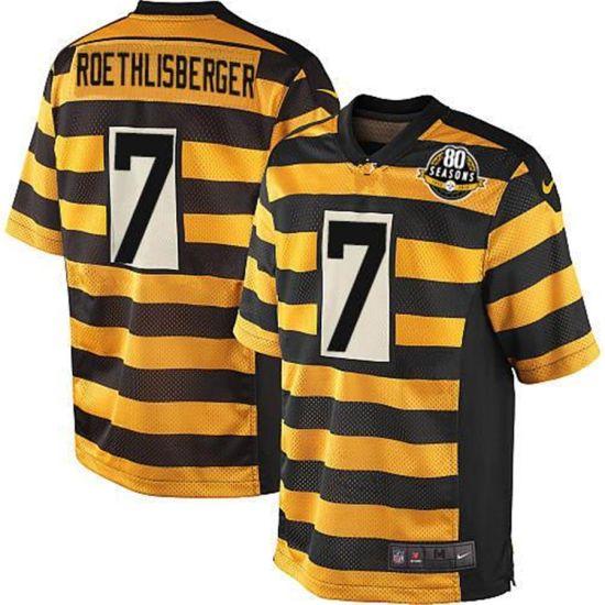 innovative design e7174 ce37c Hombres Mujeres Jóvenes Steelers Jerseys 7 Ben Roethlisberger Camisetas de  fútbol