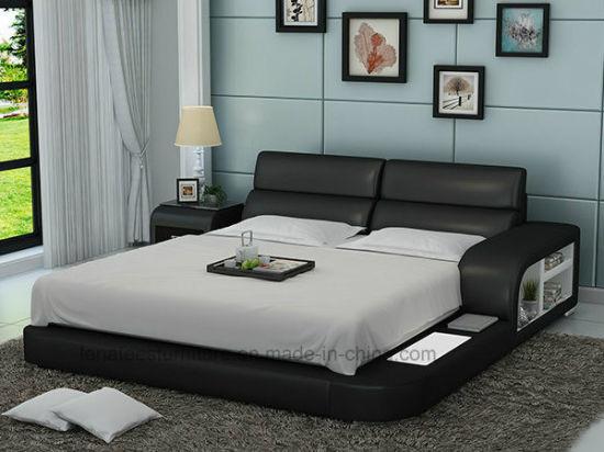 Lb8805 Designer de meubles et de lumière LED Lit moderne de stockage