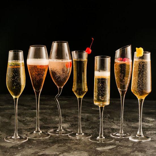 La Verrerie de cristal sans plomb verres à vin de Champagne Champagne cuvette en verre de lunettes gobelet