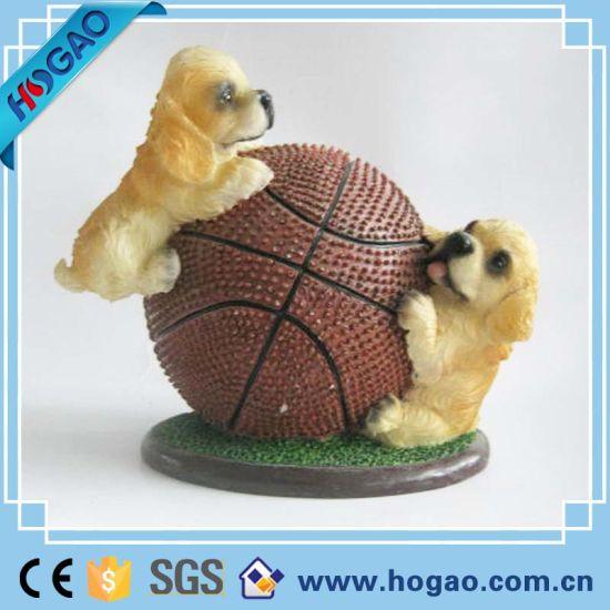 Résine figurines de chien charmante décoration intérieure ou de figurines  de jardin