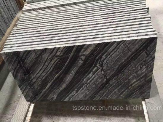 China Antike hölzerne Baum Schwarz Marmor Fliesen Kenia