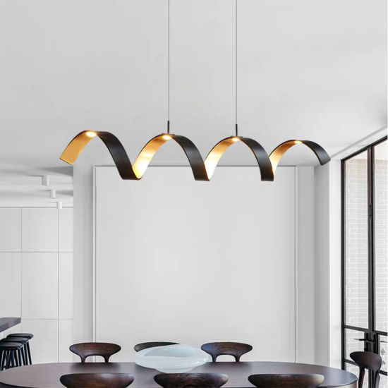 Los nuevos LED modernos de aluminio negro lámpara colgante para Comedor