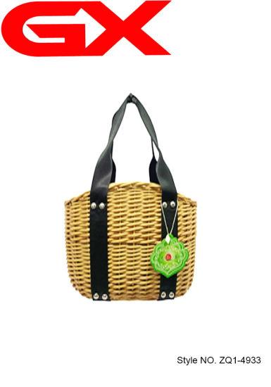assez bon marché conception adroite grandes variétés Couleur unique à la main les femmes sac à main Panier tissé sac fourre-tout  de paille