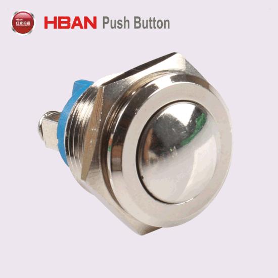 16mm Commutateur Bouton Poussoir Momentary Interupteur Switch Métallique