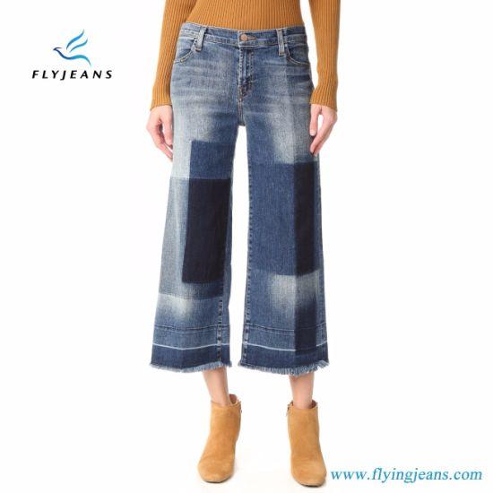 China Las Mujeres De La Fabrica De Retazos Sueltos Pantalones Vaqueros Algodon Denim E P 331 Comprar Mujer Jeans En Es Made In China Com