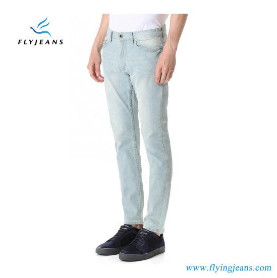 China La Moda Slim Straight Fit Jeans De Mezclilla Azul Claro Para Los Hombres De Volar Los Pantalones Vaqueros Comprar El Hombre Pantalones En Es Made In China Com