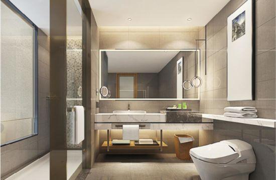Sally B2232-2 todos en un cuarto de baño Cuarto de baño modulares  prefabricados de GRC con diseño impermeable