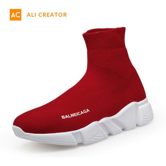 China 2019 Nuevo Diseño de Moda Zapatos de Calcetín de