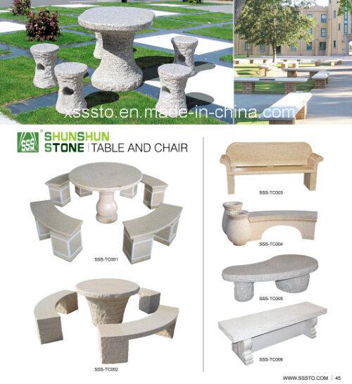 Divers Tables et chaises de jardin en pierre de granit