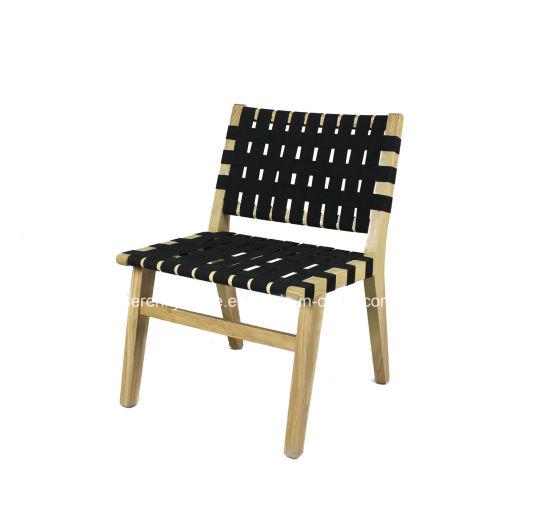 Nuevo diseño de silla de comedor de madera de tejido de tela para  Restaurante