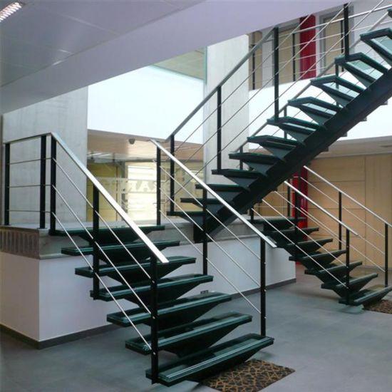 Chine Escalier moderne en verre avec escalier de la voie de ...