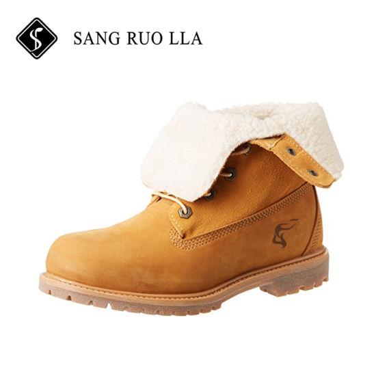 China Un buen diseño Casual amarillo Mens zapatos botas para
