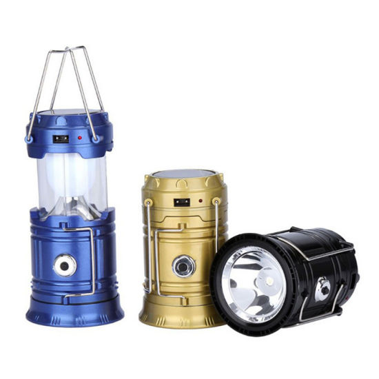 TORCH USB PHONE CHARGER SOLAR CAMPING RECHARGEABLE LED LIGHT