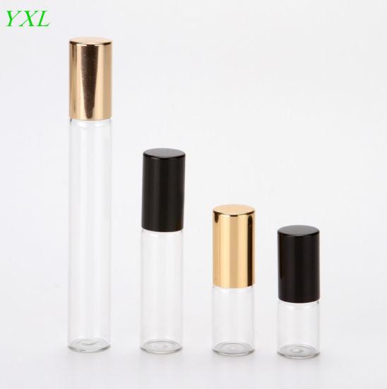 1 ml 2 ml 3 ml 5 ml 10ml Cosmetic Packaging pour rouleau d'huile de parfum sur la bouteille en verre avec bouchon en aluminium