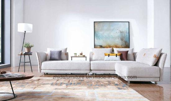 Venta caliente Muebles de Comedor Sofá tela barata