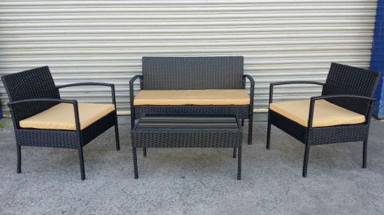 China Nuevo Diseño De Muebles De Terraza Rattan Seguro