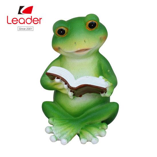 China Frog Libro De Lectura De Ornamento Terraza Figurita