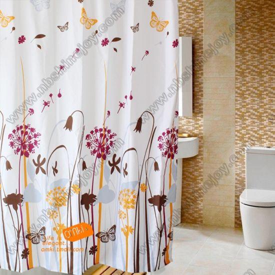 China Polyester Peva Eva Beluftung Duschvorhang Bad Vorhang Badezimmer Vorhang Kaufen Duschvorhang Auf De Made In China Com