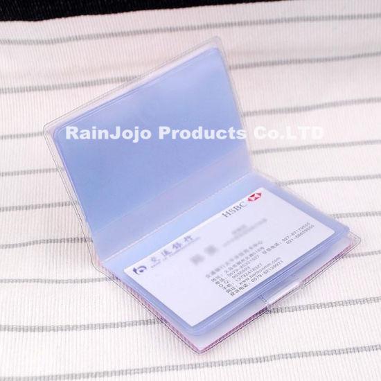 nom du titulaire de la carte Chine Vinyle Transparent porte badge, PVC ID Nom du titulaire de