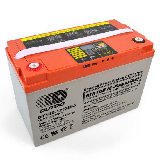 Batterie Batteries solaires 12 V 10 A automatique Chargeur de batterie AGM Acide VLRA gel