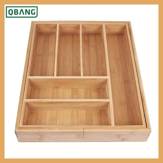 Bambou extensible à Couverts /& Tiroir Organisateur Stockage Réglable Plateau