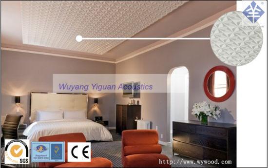 Chambre Lit de style moderne décoration de plafond en bois MDF de bord (pas  d\'135WPMS21)