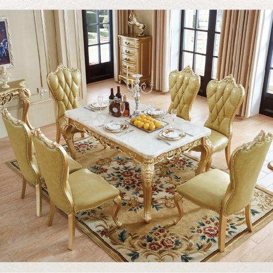 China Mármol de color opcional mesa de comedor con sofá ...