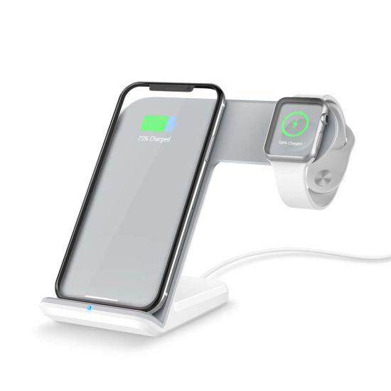 China 2 en 1 cargador inalámbrico rápido para Apple Watch y