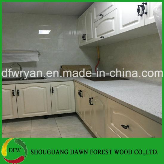 China Los diseños de Gabinete de cocina blanco de PVC madera ...