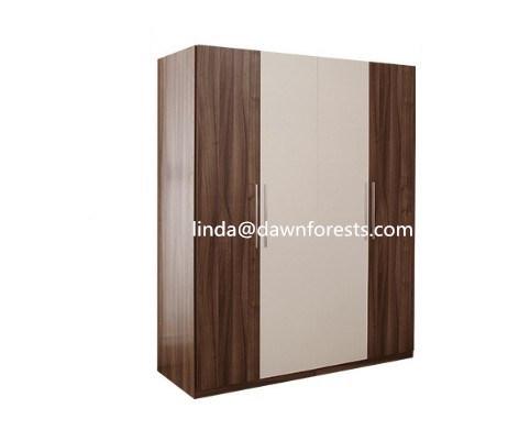 Il bianco della mobilia della camera da letto ed il colore di Wenge hanno  affrontato il guardaroba/armadio del MDF del comitato