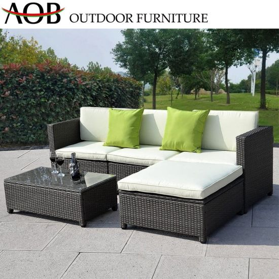 Chine Jardin Mobilier de luxe Grand Patio rotin 3 places en ...