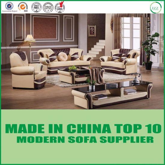 Hôtel Divani salon moderne de meubles en cuir canapé en coupe