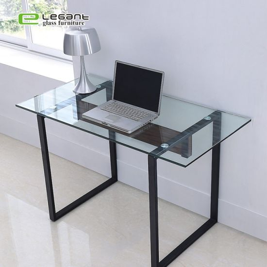 Muebles de oficina de cristal templado de mesa Escritorio con tapa de  cristal