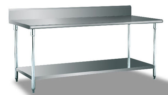 S/S TABLA con Splash Back/Estante Assembing y debajo de la mesa de  trabajo/Cocina/Workbench