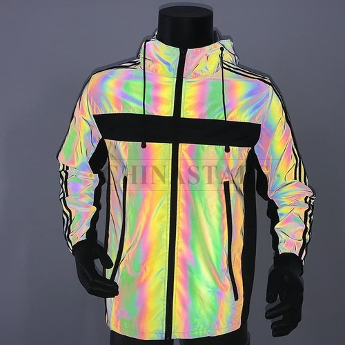 encontrar el precio más bajo más tarde buena calidad Arco Iris de poliéster de alta visibilidad ropa de Tejido reflectante  chaquetas de moda