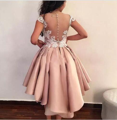 China Cóctel De Encaje Vestidos De Fiesta Corto De Raso