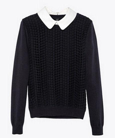 Kilómetros juguete Lada  China Diseño de Moda primavera mujer suéter negro – Comprar Suéter en  es.made-in-china.com