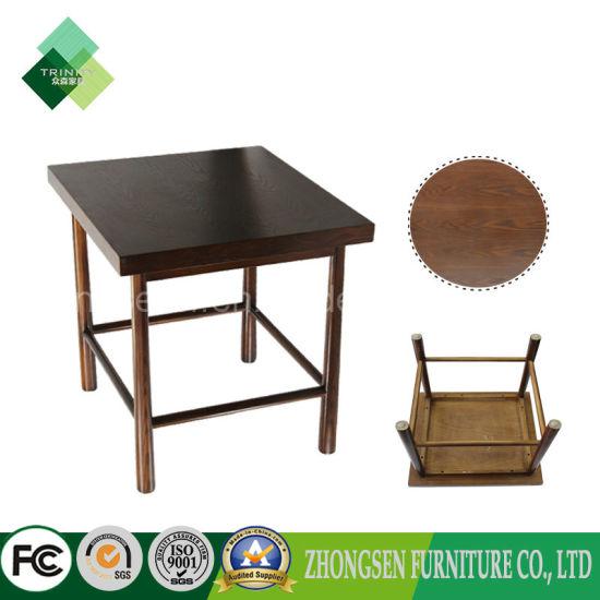Table Meubles carrée à manger Chine bois massif Table en kXZOiTPu