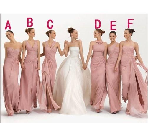 the latest e65e9 9168d La promenade nuziale dalla damigella d'onore di colore rosa chiffon  integrale del vestito veste B6412