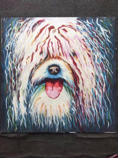 Belle peinture d\'art de décor de mur de chambre à coucher de peinture à  l\'huile de toile de crabot
