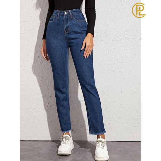 China Comercio Al Por Mayor Jeans De Mezclilla De Moda Dama Conmutar Comprar Moda Jeans En Es Made In China Com