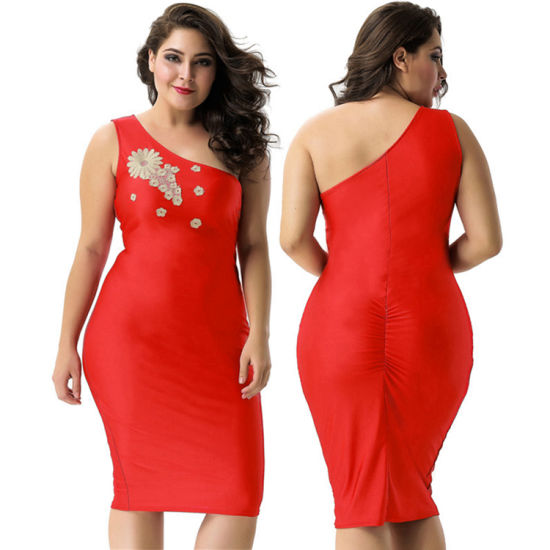 Chine Hot Sale Mesdames One Shoulder Bodycon Sexy Robe Rouge Acheter Robe Sexy Robe Sur Fr Made In China Com