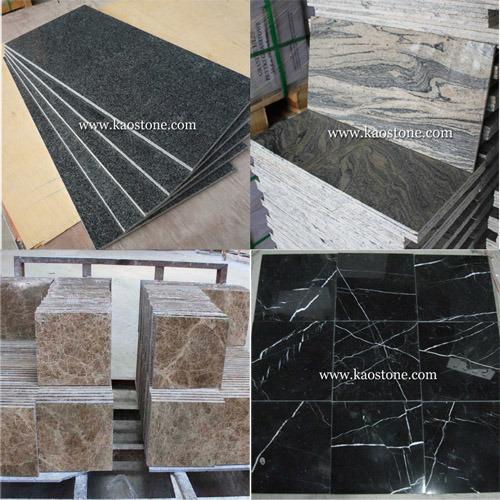 Chine Poli naturel Noir/Blanc/Gris/marbre/granit travertin ...