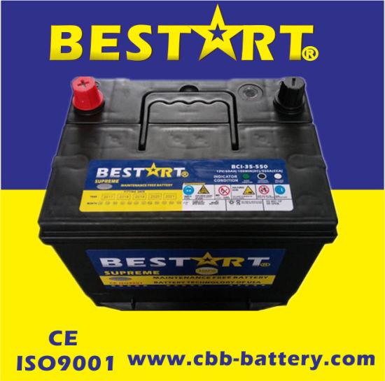 L'énergie électrique de l'acide de plomb 12V 60Ah BCI 35 MF de la batterie de l'accumulateur de voiture