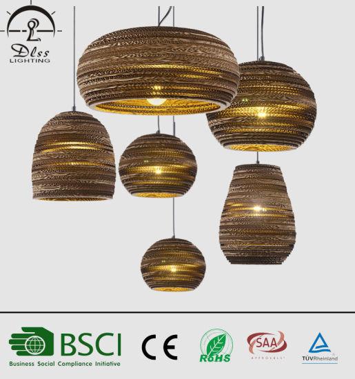 China Estilo Vintage De Papel Corrugado Luces Colgantes