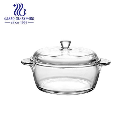 China Cristal de borosilicato de olla con tapa para la sopa