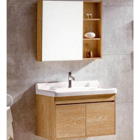 Salle de bains MDF de la vanité de contreplaqué étanche avec mur debout