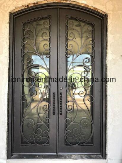 Wholesales гриль из кованого железа для дверей передних дверей для дома